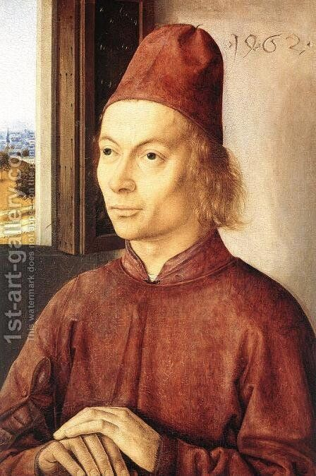 Portrait of a Man 1462 by Dieric the Elder Bouts - Reproduction Oil Painting