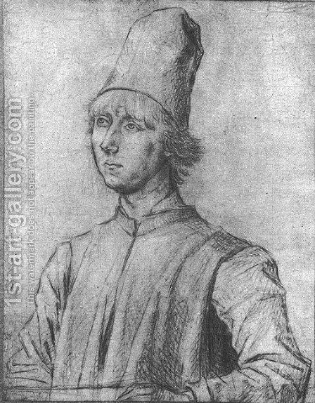 Portrait of a Man c. 1462 by Dieric the Elder Bouts - Reproduction Oil Painting