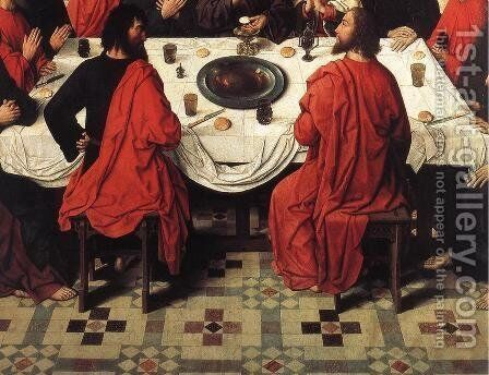 The Last Supper (detail 4) 1464-67 by Dieric the Elder Bouts - Reproduction Oil Painting