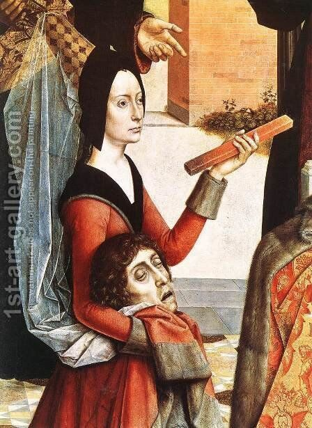 The Ordeal by Fire (detail 1) c. 1460 by Dieric the Elder Bouts - Reproduction Oil Painting