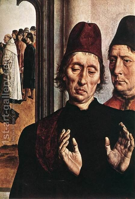 The Ordeal by Fire (detail 3) c. 1460 by Dieric the Elder Bouts - Reproduction Oil Painting