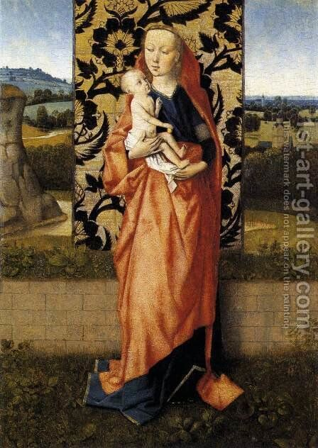 Virgin and Child 1465-70 by Dieric the Elder Bouts - Reproduction Oil Painting
