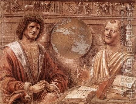 Heraclitus and Democritus 1477 by Donato Bramante - Reproduction Oil Painting