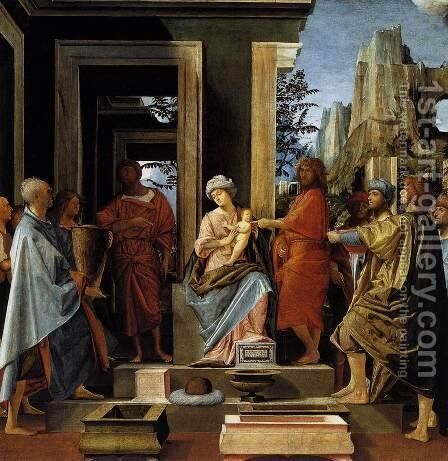 Adoration of the Magi c. 1498 by Bramantino (Bartolomeo Suardi) - Reproduction Oil Painting
