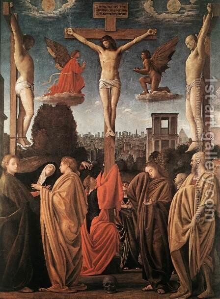 Crucifixion c. 1515 by Bramantino (Bartolomeo Suardi) - Reproduction Oil Painting
