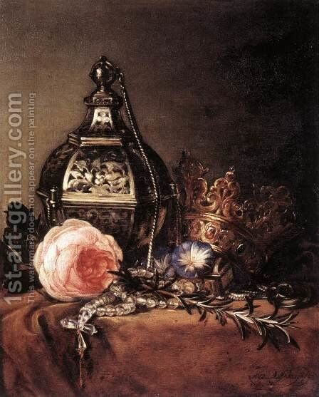 Still-Life with Symbols of the Virgin Mary 1672 by Dirck de Bray - Reproduction Oil Painting