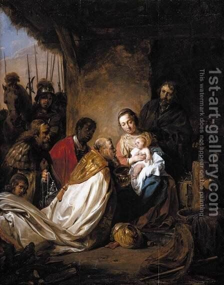Adoration of the Magi 1658 by Jan De Bray - Reproduction Oil Painting