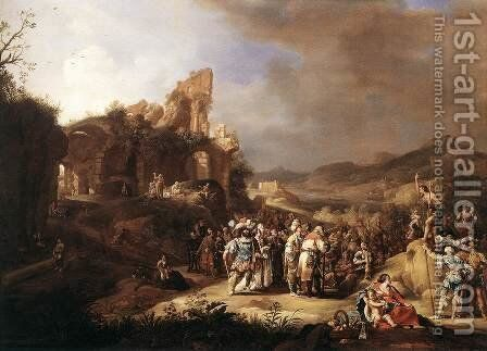 The Preaching of St John the Baptist 1634 by Bartholomeus Breenbergh - Reproduction Oil Painting