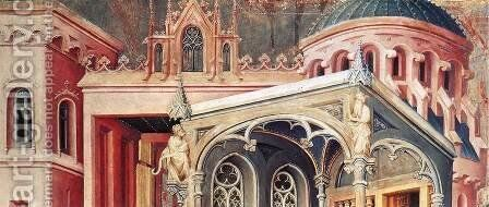 The Annunciation (detail) 1393-99 by Melchior Broederlam - Reproduction Oil Painting