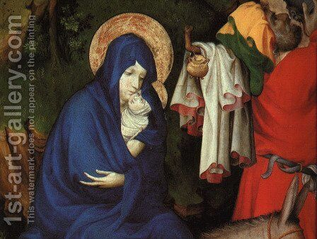 The Flight into Egypt (detail 1) 1393-99 by Melchior Broederlam - Reproduction Oil Painting
