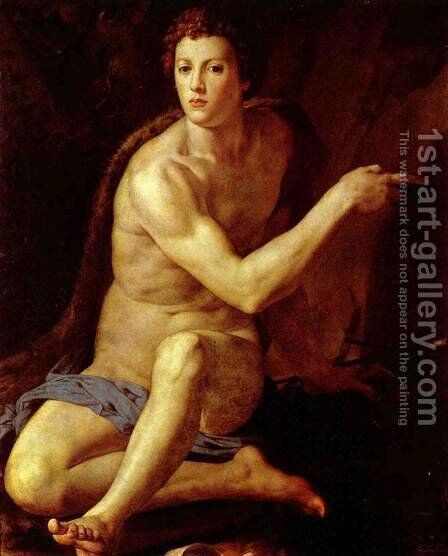 St John the Baptist 1550-55 by Agnolo Bronzino - Reproduction Oil Painting