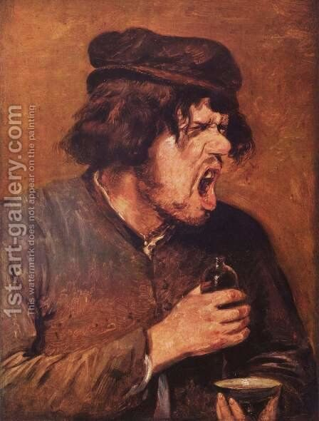 The Bitter Draught c. 1635 by Adriaen Brouwer - Reproduction Oil Painting