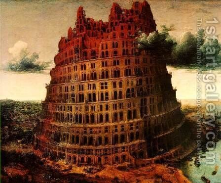 The Little Tower of Babel c. 1563 by Pieter the Elder Bruegel - Reproduction Oil Painting
