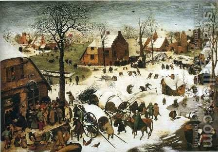The Numbering at Bethlehem 1566 by Pieter the Elder Bruegel - Reproduction Oil Painting