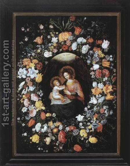 Holy Virgin and Child by Ambrosius Brueghel - Reproduction Oil Painting