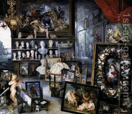 The Sense of Sight (detail 2) 1617 by Jan The Elder Brueghel - Reproduction Oil Painting