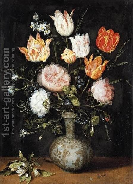 Still-Life of Flowers by Jan, the Younger Brueghel - Reproduction Oil Painting