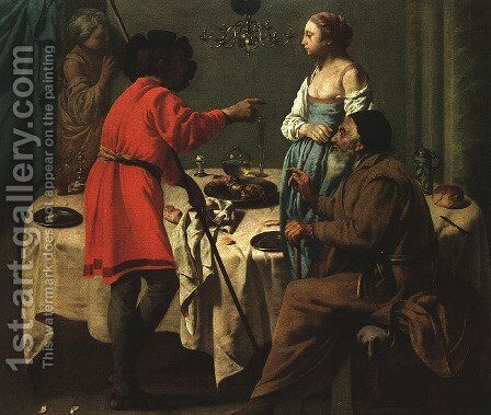 Jacob Reproaching Laban 1627 by Hendrick Terbrugghen - Reproduction Oil Painting