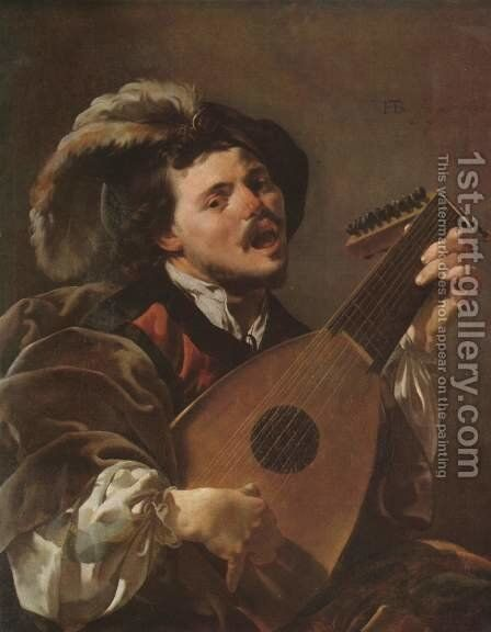 Lute Player 1624 by Hendrick Terbrugghen - Reproduction Oil Painting