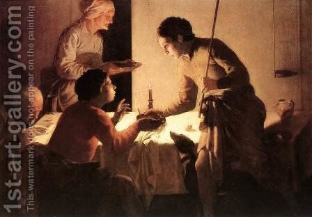 The Supper by Hendrick Terbrugghen - Reproduction Oil Painting