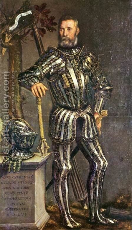 Portrait of Pase Guarienti by Domenico Brusasorzi - Reproduction Oil Painting