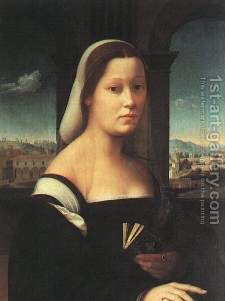 Portrait of a Woman called The Nun 1506-10 by Giuliano Bugiardini - Reproduction Oil Painting