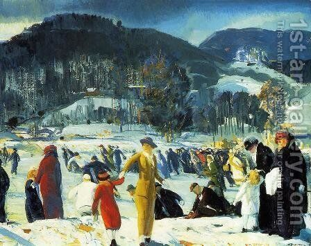 Love of Winter 1914 by George Wesley Bellows - Reproduction Oil Painting