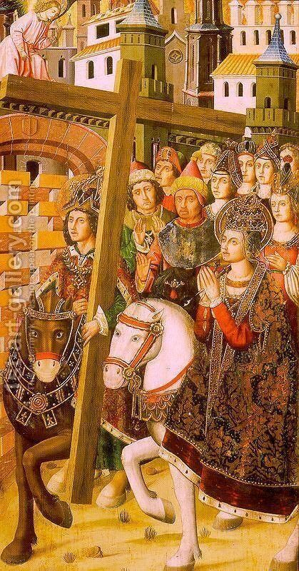 St. Helena & Heraclius taking the Holy Cross to Jerusalem by Martin Bernat - Reproduction Oil Painting