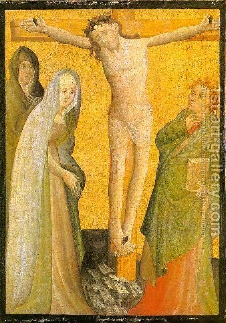 The Crucifixion 1400 by Master of the Berswordt Altar - Reproduction Oil Painting