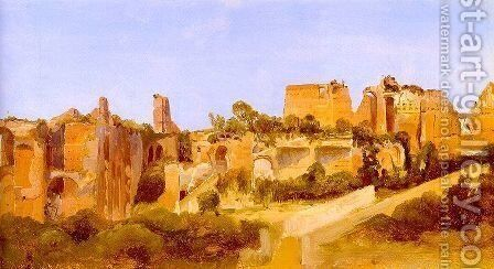 The Ruins of the Septizonium on the Palatine in Rome 1829 by Charles Blechen - Reproduction Oil Painting