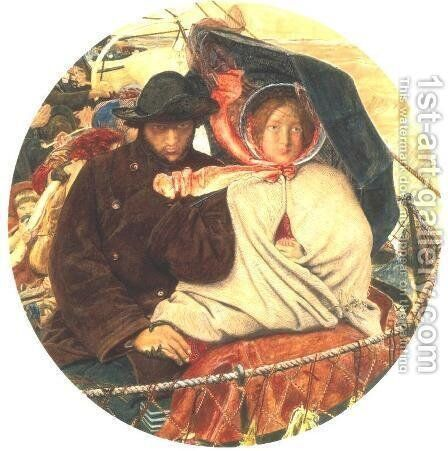 The Last of England 1852-55 by Ford Madox Brown - Reproduction Oil Painting
