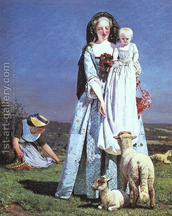 The Pretty Baa Lambs 1852 Ford Madox Brown Reproduction 1st Art Gallery