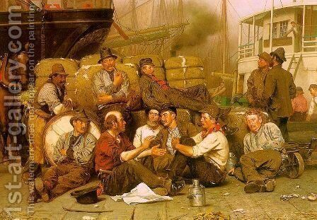 The Longshoremen's Noon 1879 by John George Brown - Reproduction Oil Painting