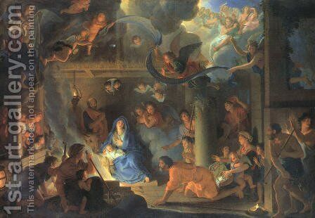 Adoration of the Shepherds 1689 by Charles Le Brun - Reproduction Oil Painting