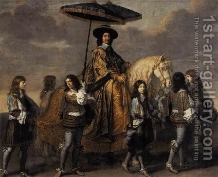 Chancellor Séguier at the Entry of Louis XIV into Paris 1655-61 by Charles Le Brun - Reproduction Oil Painting