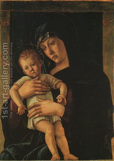 Greek Madonna 1460 by Giovanni Bellini - Reproduction Oil Painting