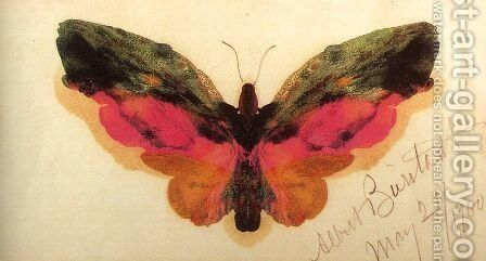 Butterfly 1900 by Albert Bierstadt - Reproduction Oil Painting