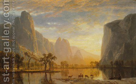 Valley of the Yosemite 1864 by Albert Bierstadt - Reproduction Oil Painting