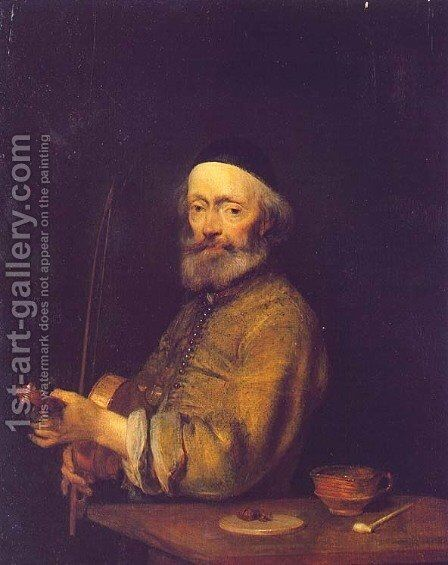 A Violinist by Gerard Ter Borch - Reproduction Oil Painting