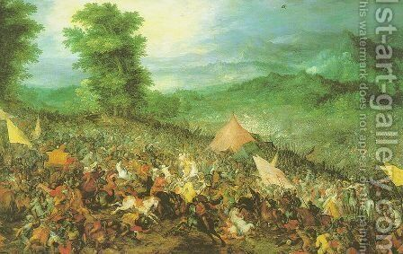 The Battle of Issus 1602 by Jan The Elder Brueghel - Reproduction Oil Painting