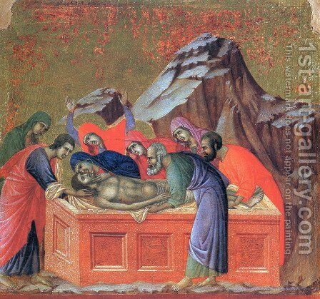 Burial of Christ 1308-11 by Duccio Di Buoninsegna - Reproduction Oil Painting