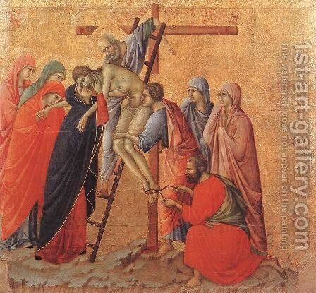 Deposition 1308-11 by Duccio Di Buoninsegna - Reproduction Oil Painting