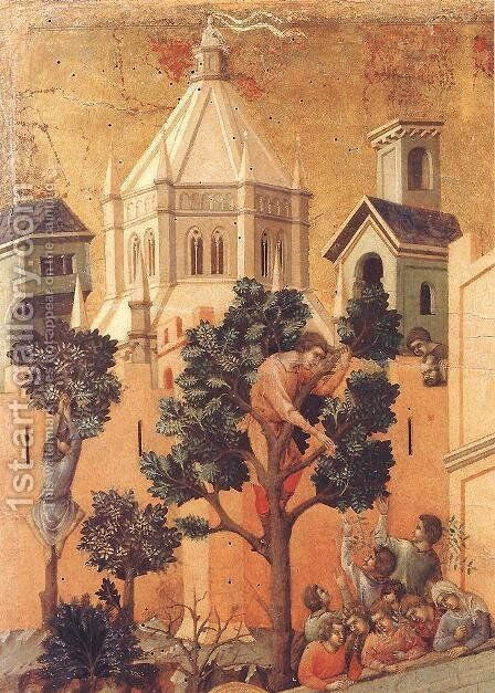 Entry into Jerusalem (detail) 1308-11 by Duccio Di Buoninsegna - Reproduction Oil Painting