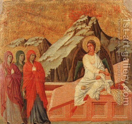 The Holy Women at the Sepulchre 1308-11 by Duccio Di Buoninsegna - Reproduction Oil Painting