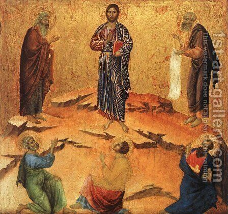 Transfiguration 1308-11 by Duccio Di Buoninsegna - Reproduction Oil Painting