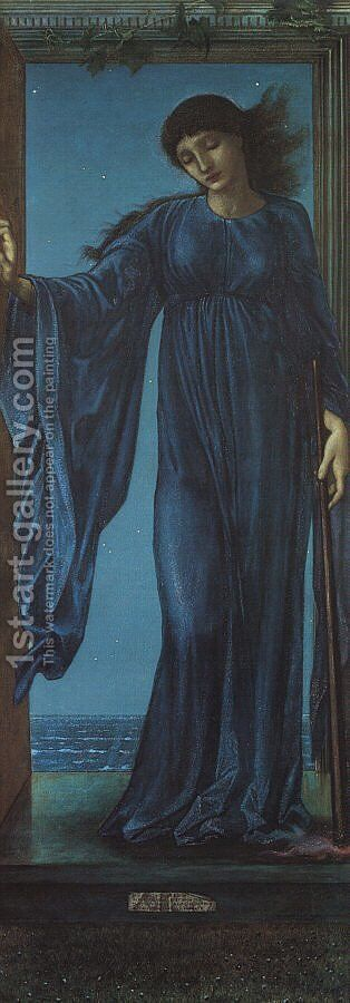 Night 1870 by Sir Edward Coley Burne-Jones - Reproduction Oil Painting