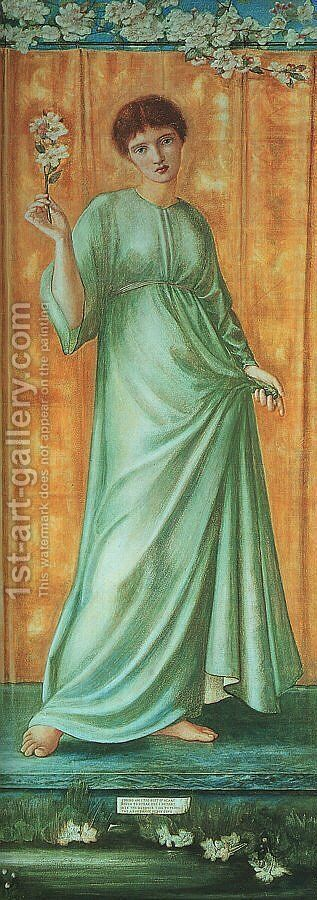Spring 1869-70 by Sir Edward Coley Burne-Jones - Reproduction Oil Painting