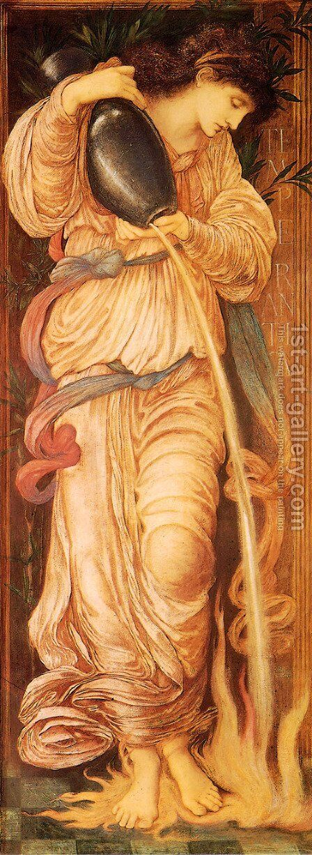 Temperantia 1872 by Sir Edward Coley Burne-Jones - Reproduction Oil Painting
