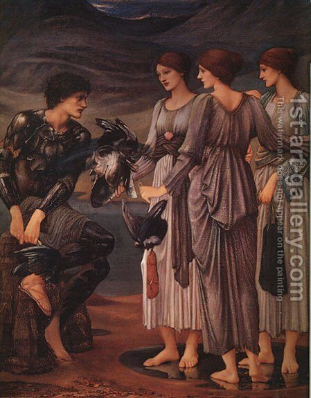 The Arming of Perseus 1885 by Sir Edward Coley Burne-Jones - Reproduction Oil Painting