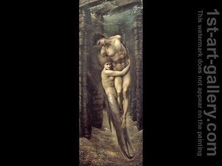 The Depths of the Sea 1887 by Sir Edward Coley Burne-Jones - Reproduction Oil Painting